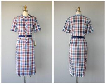 Vintage 1960s Dress | 60s Day Dress | Vintage Shirt Dress | 60s Day Dress | Vintage Plaid Dress | Cotton Dress 60s