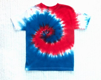 Toddler / Kids Tie-dye T-shirt, Size 4, red, white and blue