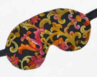 Faux Embroidered FLOWERS Five Layer LUXURY Cotton Sleep Eye Mask