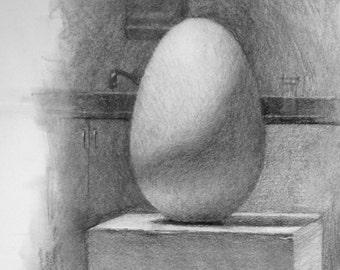 Egg Study - original drawing (FD 51)