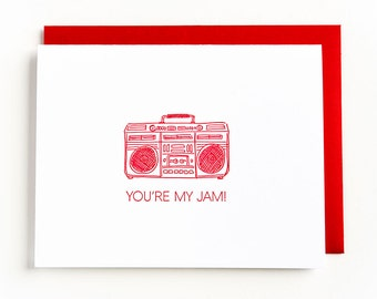 you're my jam | letterpress greeting card