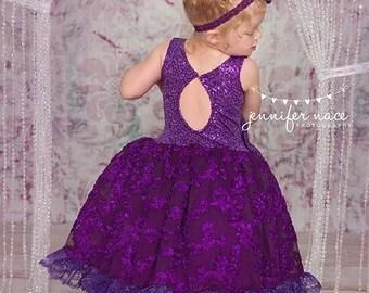 Primafashions purple princess tutu dress size 6