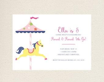 Carousel Birthday Invitations