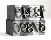 NUMBERS 36pt Vintage Metal Letterpress - Rondo