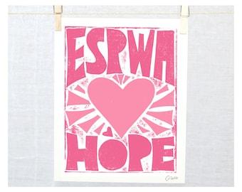Hope, Espwa, Haitian Creole, Haiti, Wall Art, Adoption Gift, Nursery Art Print, Baby shower Gift, Haiti Adoption, Kids Room Art, Haiti