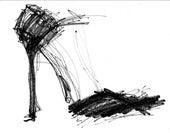 Sexy Black Sandal, Print, Stiletto