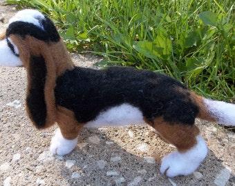 Original One of a kind Needle felted basset hound