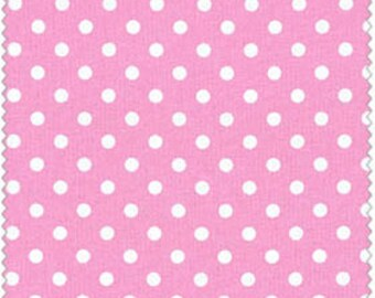 Crafty Cotton Pink Dot Cotton Fabric 4270-1