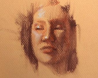 Original Sketch Of Woman By Karen Whitworth