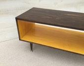 Coffee Table Handmade Mid Century Modern Chocolate and Mustard (or custom color) Coffee Table Furniture MCM
