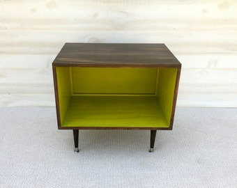 FREE SHIPPING!!!  The Wee Record Player Stand Mid Century Modern Record Cabinet Media Table  TV Stand Vinyl Storage