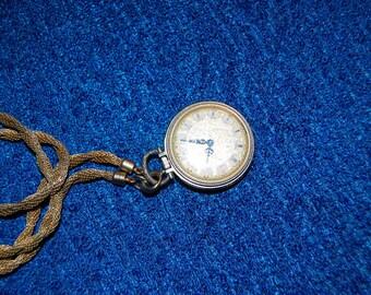 Vintage Clock Necklace Pendant