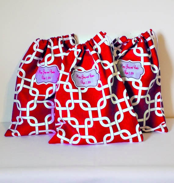 Graduation Gift, Travel Shoe Bags - Shoe Protectors - Drawstring Bag - Hostess Gift - Teacher Gift - Bridal Party Gift - Party Favor Bags -