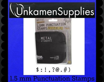 1.5mm Punctuation Metal Stamp Set - Stamping Disc Sample Included