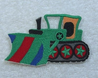 Grader/Dozer Embroidered Iron on Applique Patch Ready to Ship