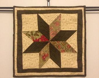 Mini Quilt - Eight Point Star