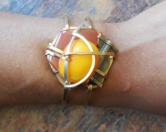 Abstract Amber cuff