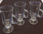 Three  Footed Glasses With Handles, Bar Ware, Iced Tea Glasses, Wine Glasses
