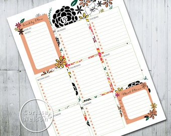 Weekly Planner in Garden Style