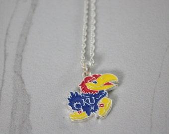 Kansas Jayhawk Necklace