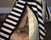 Carseat Canopy Free Shipping code today Gold and black
