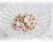 Mulberry Flowers~Sweetheart  Blossoms Pale Pink~ Set of 10 for Scrapbooking, Cardmaking, Altered Art, Wedding, Mini Album