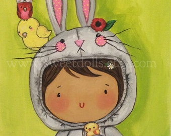Some bunny loves you, Children's wall art, Nursery wall art,