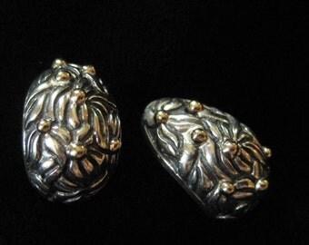 Sterling Silver 14K Half Hoop Earrings for Pierced Ears