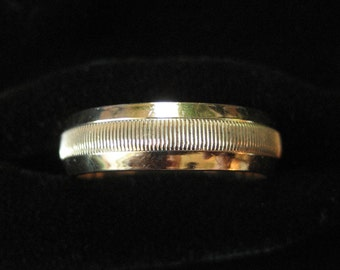 Gold Filled Band Ring, Friendship Ring, Size 6.5