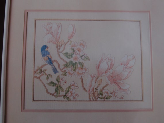 Vintage Counted Cross Stitch Kit Dimensions Blossoms