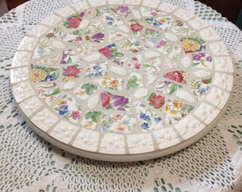 Broken china lazy susan mosaiv