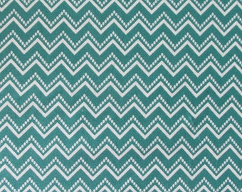 In the Beginning Fabrics Teal Chevron from the RANUNCULUS FLORAL Collection- yards