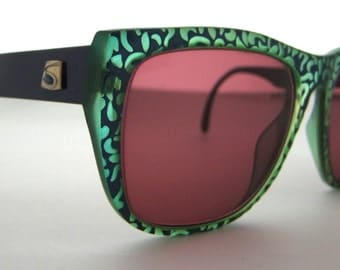 Saphira Designer Eyeglasses // Made in GERMANY by OPTYL // Vintage 80s 90s model 4163