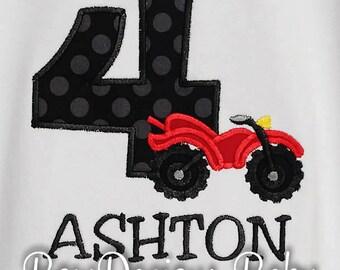 4 Wheeler Birthday Shirt, ATV Birthday Shirt, Four Wheeler Birthday Shirt, Custom Boys Birthday Shirt, Motor Bike Shirt