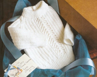 Sweater with lacy panel knitting pattern. Instant PDF download!
