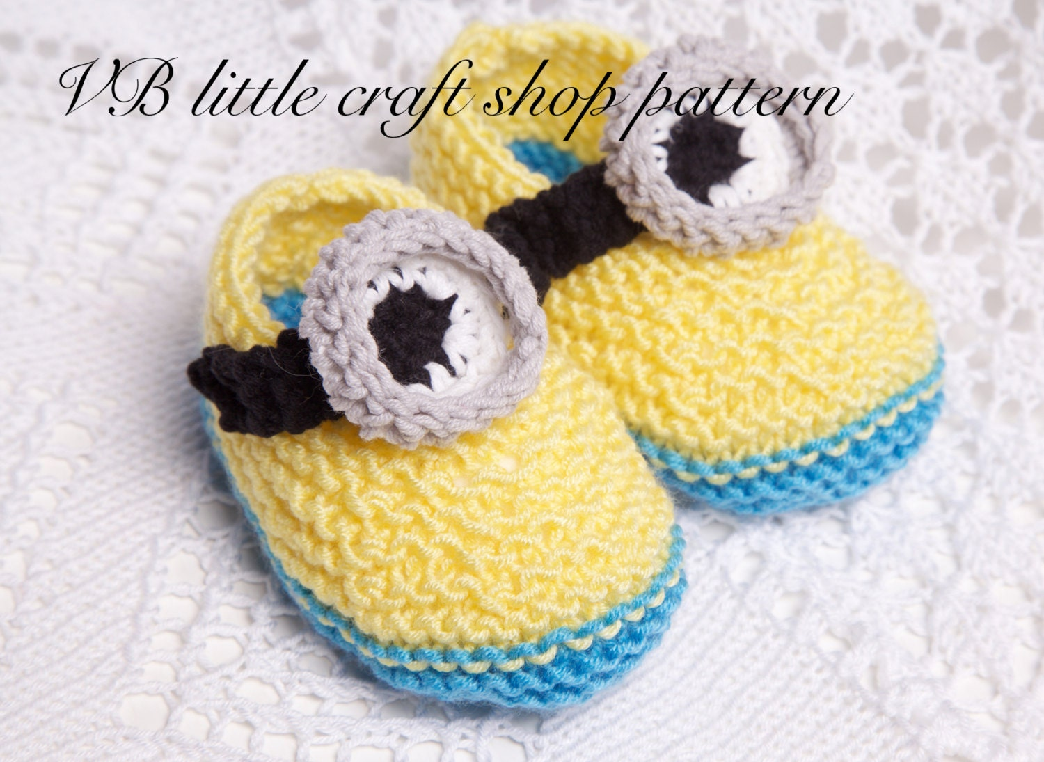 Minion booties knitting/crochet pattern. by VBlittlecraftshop