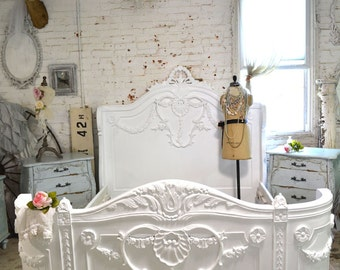 Painted Cottage Shabby French Romantic Bed QUEEN / KING BON20