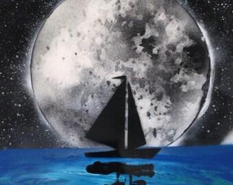Sail Boat Moon (large)