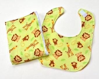 Baby Girl Bib Burp Cloth Gift Set SALE Infant Baby Shower Gift Burp Rag Burpcloths Drool or Nursing