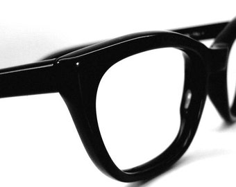 Vintage Safilo Black Cateye Eyeglasses Eyewear Frame NOS