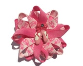 "Pink Ballet Slipper 2.5"" Hair Bows - Pink Ballet Handmade Hair Bows - Made To Order"