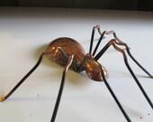 Vintage Copper Spider 3 dimensional UNIQUE PIECE copper Spider