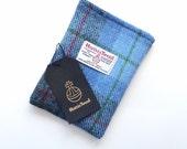 HARRIS TWEED Kindle  Voyage Sleeve, blue and grey check