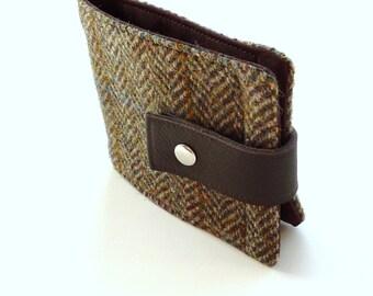 Harris Tweed wallet , Taransay herringbone ,  great gift for men ,