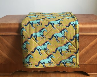 Wild Horses Baby Playmat.  Cotton and Linen Double Padded Mat for the Floor