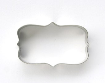 Plaque Cookie Cutter, Rectangular Frame Cookie Cutter