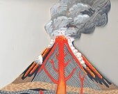 On HOLD for AB -- Original painting - a Volcano for your wall III