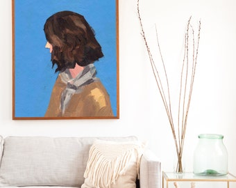 The Scout .  extra large wall art . giclee print