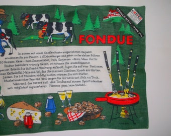 Vintage Kreier Fondue Linen Placemats • new with labels • 5 count