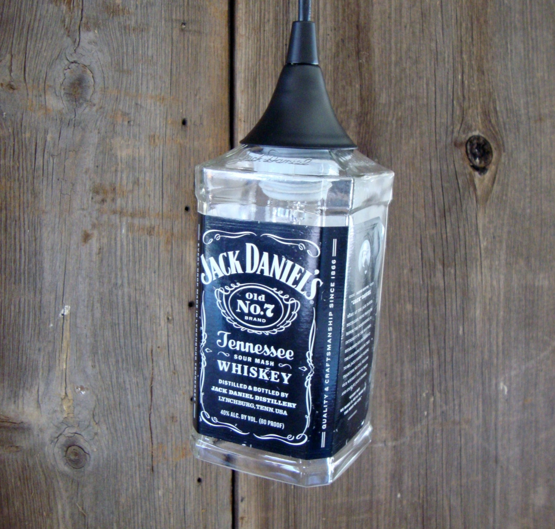 Jack Daniels Bottle Hanging Pendant Ceiling Light By